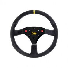 OMP 320mm Alu S Steering Wheel - Black Suede