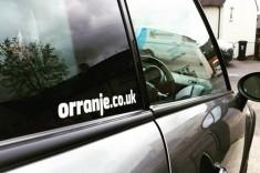 Orranje Vinyl Stickers