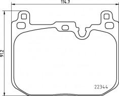 Mintex F56 JCW Front Brake Pads - MDB3804