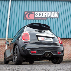 Scorpion Exhausts Catback System Polished 100mm Daytona - Resonated MINI F56 Non-GPF Cooper S