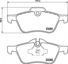 Mintex R53 Front Brake Pads - MDB2162