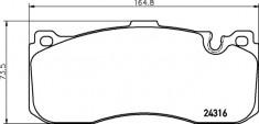 Mintex R56 JCW GP2 Front Brake Pads - MDB2974
