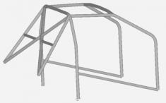 JP Cages MINI R53 Bolt In Multipoint Competition Full Roll Cage