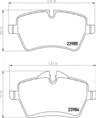Mintex R53 JCW Front Brake Pads - MDB2816