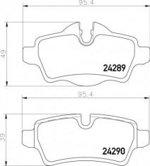 Mintex R56 Rear Brake Pads - MDB2930