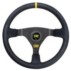 OMP 350mm WRC Steering Wheel - Black Leather