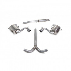 Scorpion R53 R52 Catback Exhaust with 90mm STW Trims - Non-Resonated SMN003S